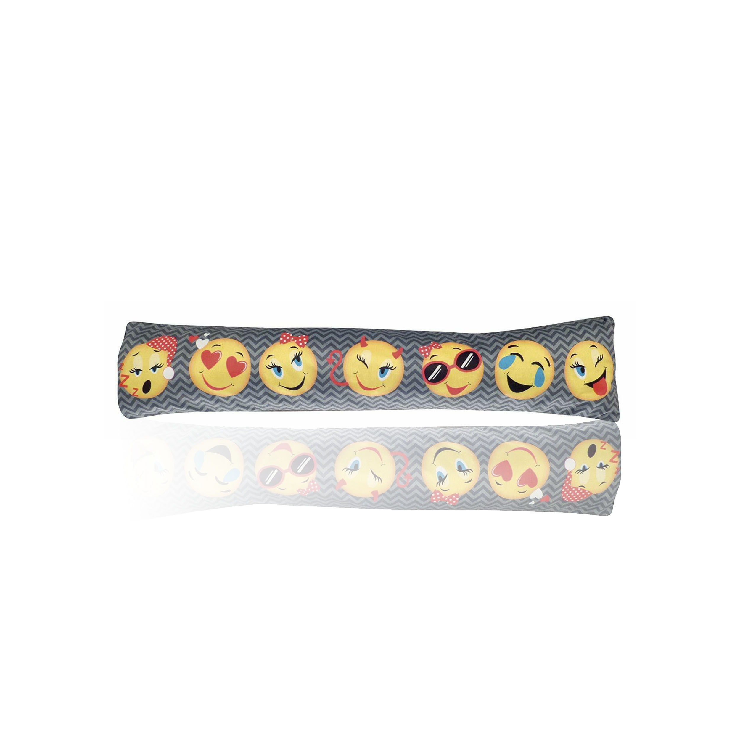 Funny Face Emoji Printed Plush Draught Excluder 90cm
