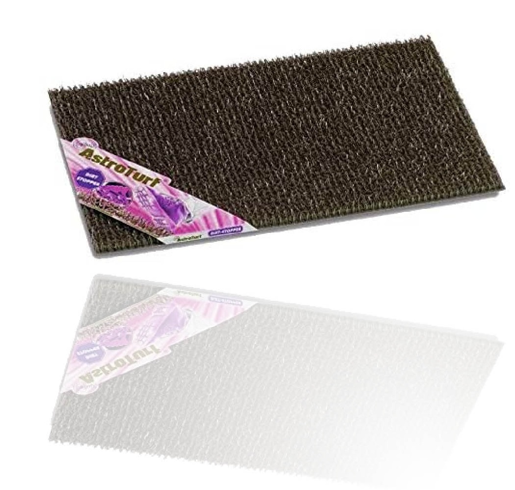 Astro Turf Anti Slip External Plastic Doormat Dark Borwn