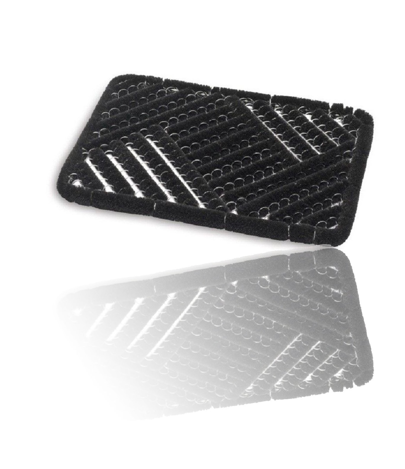 Grimebuster Natural Coir Doormat Black